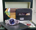 ROLEX - Men's Platinum 39mm Masterpiece Blue Diamond 18946 SANT BLANC