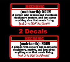 Mechanic Definition decal Matco toolbox tool cart Drill wrench drill air rachet
