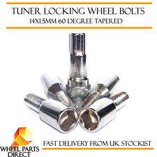 14x1.5mm Locking Alloy Wheel Lock Bolts Tuner Sparco Slimline Security Nuts