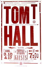 Tom T Hall Country Music Hall Of Fame Show poster 2005 Hatch Show Print