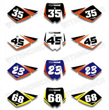 Custom Number Plate Backgrounds Graphics For KTM SX50 SX 50CC 2002 2003 2004 05