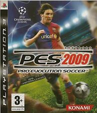 PLAYSTATION 3 PES 2009 PRO EVOLUTION SOCCER PS3 GAME
