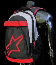 Alpinestars Racing Dfender Black/Gray/Red Skate Bag Backpack School Bag