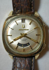 Vintage 1970 Bulova Accutron Astronaut Mark II 14k Gold Filled Watch GMT Date