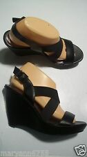 Simply Vera Wang Tea Black Slingback Platform Sandals Heels Shoes Size 9 @cLOSeT