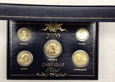 2000 24Kt Gold Plated Year Set Susan B/Quarter/Lincoln Nickel/Dime W/Box