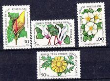 Cipro Turca 1982 fiori di campo 2 serie 99-102 Mnh