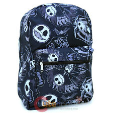 Nightmare Before Christmas Large School Backpack Jack All Over Printed Black