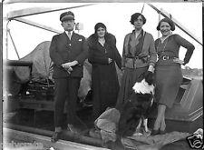 Portrait femmes + officier marine  négatif photo verre an. 20 negative glass