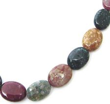"15.5"" Mixed Colors Natural Ocean Jasper Flat Oval 20 Beads 15x20mm K2721"