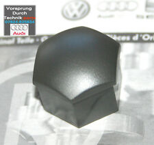Audi A3 A4 A6 A8 TT Wheel Bolt Nut Plastic Cap Cover  - Silver / Grey