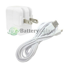 10FT White USB Micro Cable+Wall AC Charger for Samsung Galaxy Tab 3 7.0 8.0 10.1