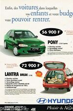 Publicité advertising 1997 Hyundai Pony et Lantra Break