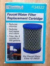ONE (1) SEARS KENMORE 42-34522 WATER FILTER CARTRIDGE for 42-34520, GENUINE, NEW