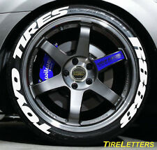 "TIRE LETTERS - 1"" TALL - LOW PROFILE - toyo tires R888 - (SWOOSH DESIGN)"