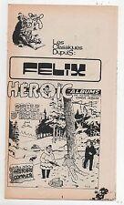 Supplément à Spirou n°1872. Felix. Drôle d'engin. TILLIEUX. 1974