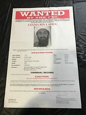 USAMA OSAMA BIN LADEN ORIGINAL Pre 9/11 Rare & Authentic FBI Wanted Poster - RED