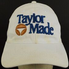 Taylor Made Embroidered White Baseball Hat Cap and Cloth Strap Adjust