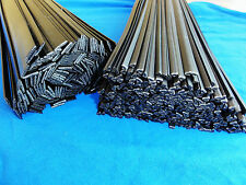 PP Plastic welding rods 6mm flat black, pack of 25 pcs
