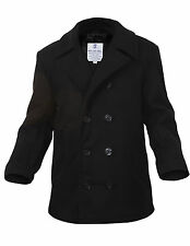pea coat us navy type wool black or navy various sizes rothco 7070 7270