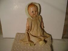 "Antique ""Chuckles - A Century Doll"" Composite & Cloth Baby Doll"