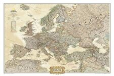 National Geographic Map Europe Wall Map Accurate Details 24.75 x 30.50