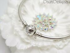 Authentic PANDORA Sterling Silver BANGLE CHARM BRACELET 7.5 Medium