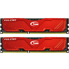 TEAM VULCAN Rojo 8GB (2 GROUP X 4GB) DDR3 PC3-19200C11 2400MHZ Kit de doble canal