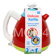 Kids Deluxe Toy Kettle Realistic Sound Effects, Pretend Kitchen Play *New