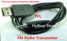3.5mm Wireless Stereo USB FM PPL Transmitter for Car iphone Samsung TV PC DVD