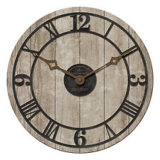 FirsTime Manufactory 25652 Reclaimed Whitewash Wall Clock