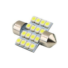 16 SMD LED 1210 31mm Car Interior Dome Festoon Bulb Light Lamp White DC 12V GA