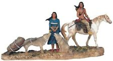 Indian Family Statue Figurine Figure North American Indio India Horse