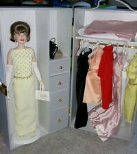 "Franklin Mint 16"" Jackie Kennedy Doll With Trunk & 7 Outfits!"