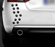 12 chat chien Paw Prints voiture van 4x4 portable Vélo Mur Art Autocollant Vinyle Windows