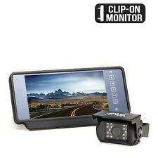 "Backup Camera With 7"" TFT LCD Screen That Attaches to Rear View Mirror 130° View"