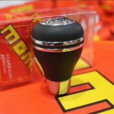 Car Gear Shift Knob Universal Aluminum Leather for MOMO Manual Shift Lever 1Pc