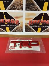 Genuine Scion tC xB OEM TRD Adhesive Metal Emblem (RED) Solid Metal JDM NEW