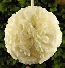 """10"""" Rose Flower Pomander Kissing Balls Wedding Pew, Home Decoration Ivory"""