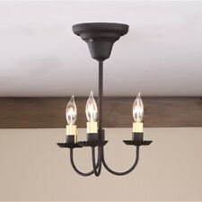 primitive 3 arm black chandlier ceiling light/ nice/ FREE SHIP