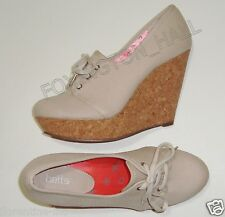 """BNWOB:GORGEOUS BETTS CANVAS LACE UP WEDGE SNEAKERS 9/40 """"MALIBU"""""""