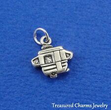 .925 Sterling Silver POP UP CAMPER RV Travel Trailer Airstream CHARM PENDANT