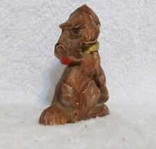 Vintage Wooden Airedale Terrier Dog Figurine