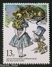 Alice`s Adventures in Wonderland, Mad Hatter + Cheshire Cat on 1979 Stamp - U/M