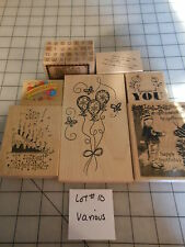 LOT OF SCRAPBOOKING STAMPS- CELEBRATE -STAMPING CARDMAKING RUBBER LOT#10