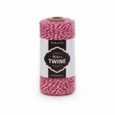 TWINE~BAKERS TWINE~COTTON~4 PLY 1mm X 219m~RED / WHITE~GIFT WRAP STRING