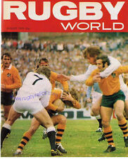 RUGBY WORLD MAGAZINE AUGUST 1975 - PERFECT GIFT FOR A FAN BORN IN THIS MONTH