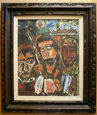 CHUNKY MODERN EXPRESSIONIST OIL 1960s MODERNISM ABSTRACTION PICASSO INFLUENCE