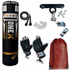Boxing Punch Bag 5Ft Stand Heavy Martial Arts Kick Sparring Set MMA