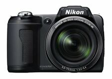 Brand New Nikon COOLPIX L105 12MP 15X Optical Zoom Digital Camera Bundle - Black